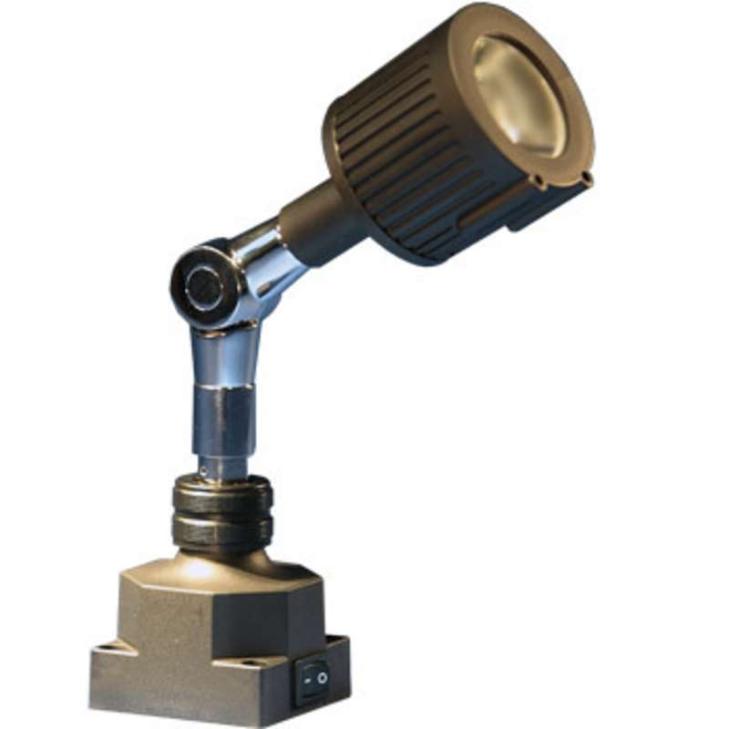 """LS940 Series 5 Watt LED Spot Light with 7-3/4"""" Arm, Square Base, Black (Requires Transformer)"""