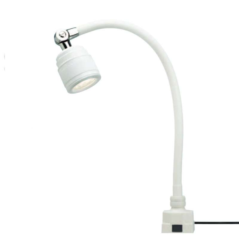 """SL9 Series Low Voltage LED Task Light with 20"""" Gooseneck Arm, 25° Beam Angle and Low Square Base, White"""