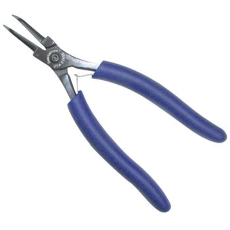 """Needle Nose Curved Head ESD Plier with Smooth Jaw, Ergonomic Handle, 6.56"""""""
