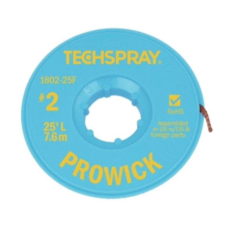 "ProWick® Rosin Desoldering Braid, .055"", 25' Yellow Standard Spool"