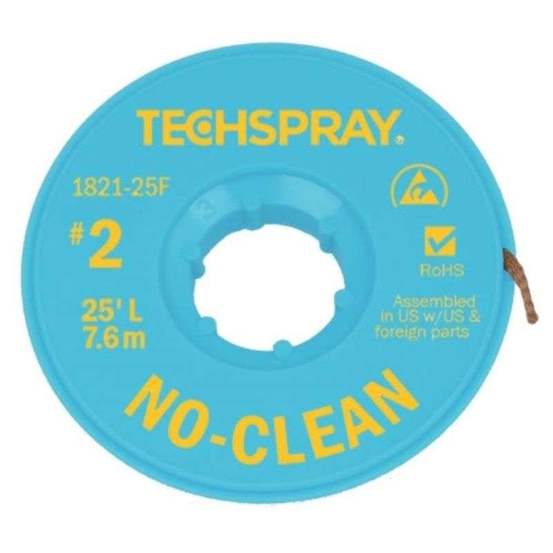 "No-Clean Desoldering Braid, .055"", 25' Yellow ESD Spool"