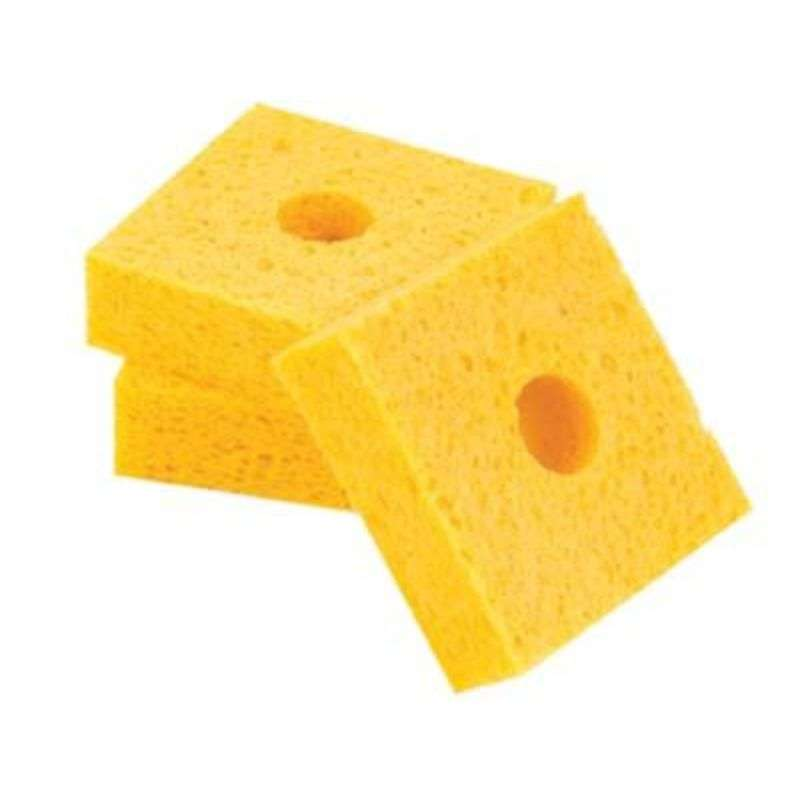 """Solder Tip Cleaning Sponge with Center Hole, 2-11/16 x 2-11/16 x 1"""", 10 per Pac"""