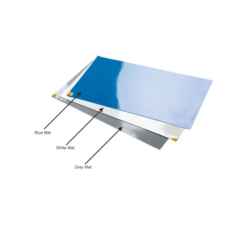 """CleanStep® Adhesive Contamination Control Mats, White, 25 x 45"""", 30 Sheets per mat"""
