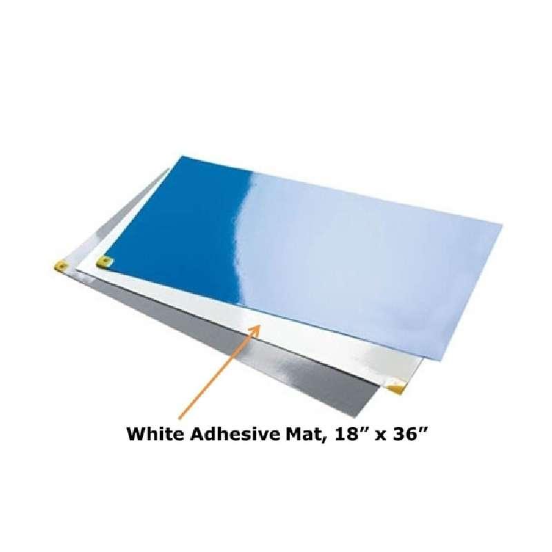 "CleanStep® Adhesive Contamination Control Mats, White, 18 x 36"", 30 Sheets per Mat, 8 Mats per Case"