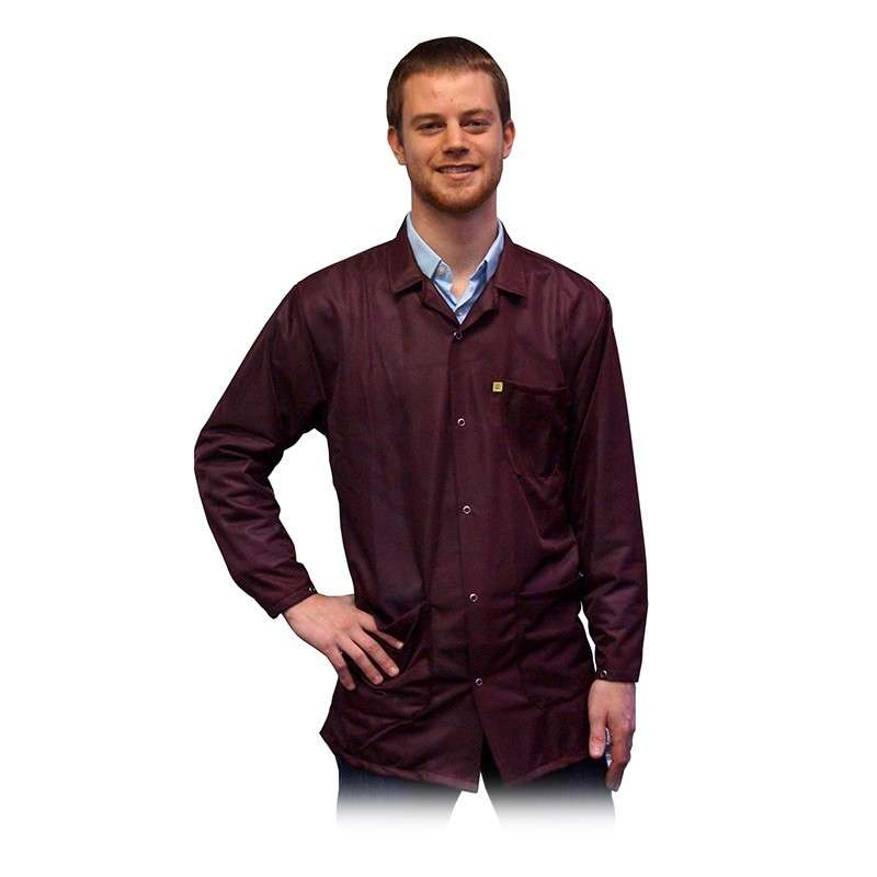"""ESD-Safe Light Weight Jacket, Maroon, X-Small, 31-1/2"""" Long"""