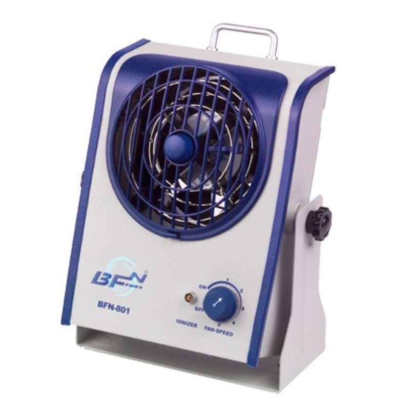 BFN® Series 1-Fan Bench Top AC Ionizer Blower with Integrated Emitter Cleaning Device and Variable Fan Speed Control