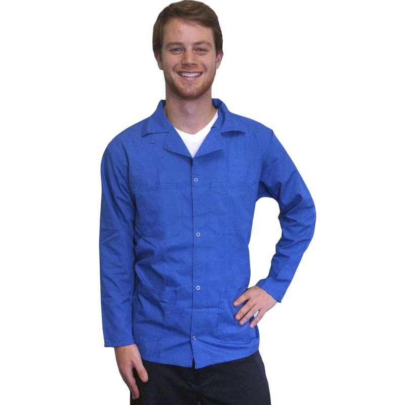 "ESD-Safe Heavyweight Jacket Knit Cuff Light Blue 4 XL, 32"""