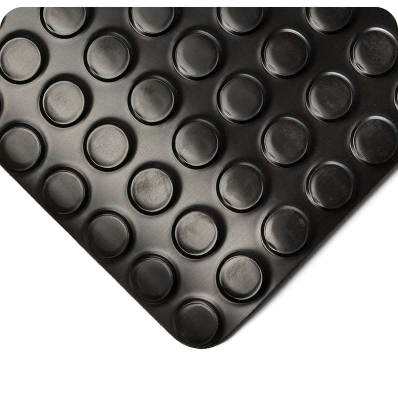 """Non-ESD-Safe Ultimate Radial Runner 4 x 50' Commercial NFPA Flammability Rated Black Vinyl Matting, 1/8"""" Thick"""