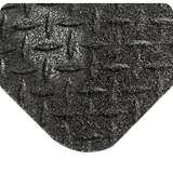 """Non-ESD-Safe GritWorks® 2 x 75' Diamond Plate Black Nitrile Matting with Nitricell® Sponge Base, 9/16"""" Thick"""