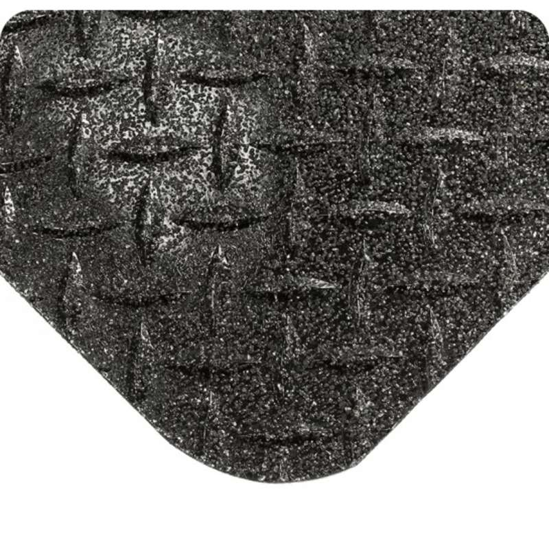 """Non-ESD-Safe GritWorks® 2 x 75' Diamond Plate Black Nitrile Matting with Nitricell® Sponge Base, 15/16"""" Thick"""