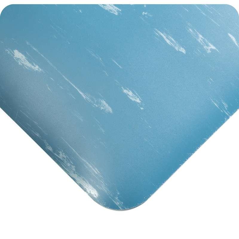"Non-ESD Tile-Top 2 x 3' Marbleized Black Matting with Anti-Microbial Sponge Base, 1/2"" Thick"
