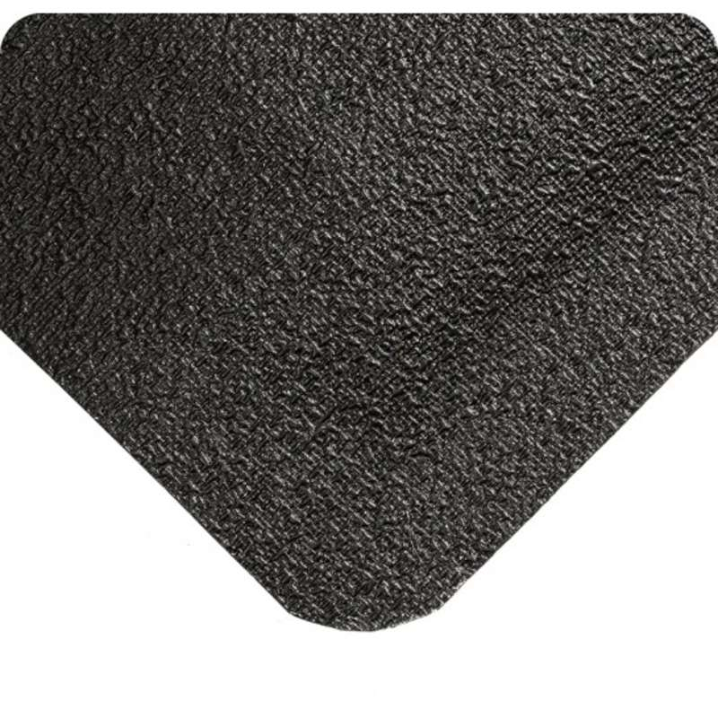 """WeldSafe® 4 x 75' Spark Repellant Black Rubber Matting with Nitricell® Sponge Base, 9/16"""" Thick"""