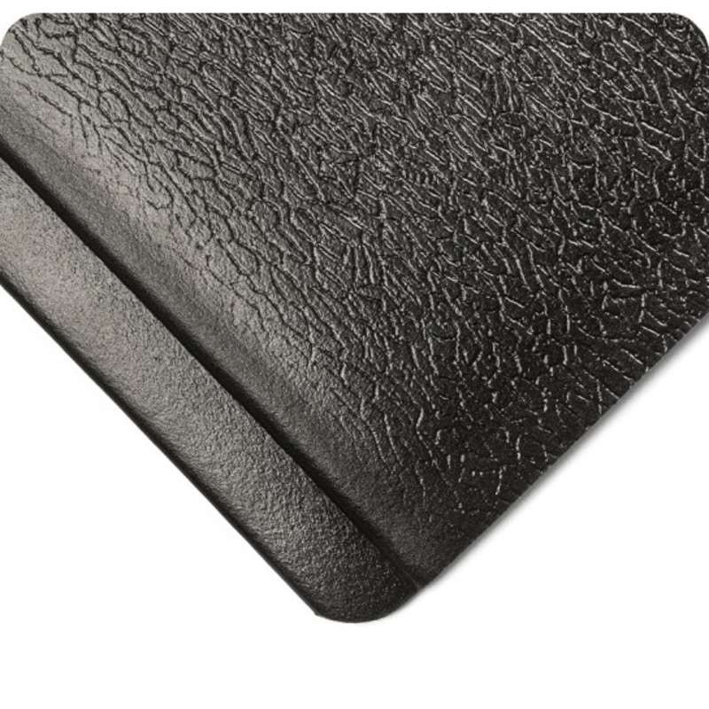 "Endurable 3 x 12' Anti-Fatigue Abrasion Resistant Black PVC Sponge Matting, 1/2"" Thick"