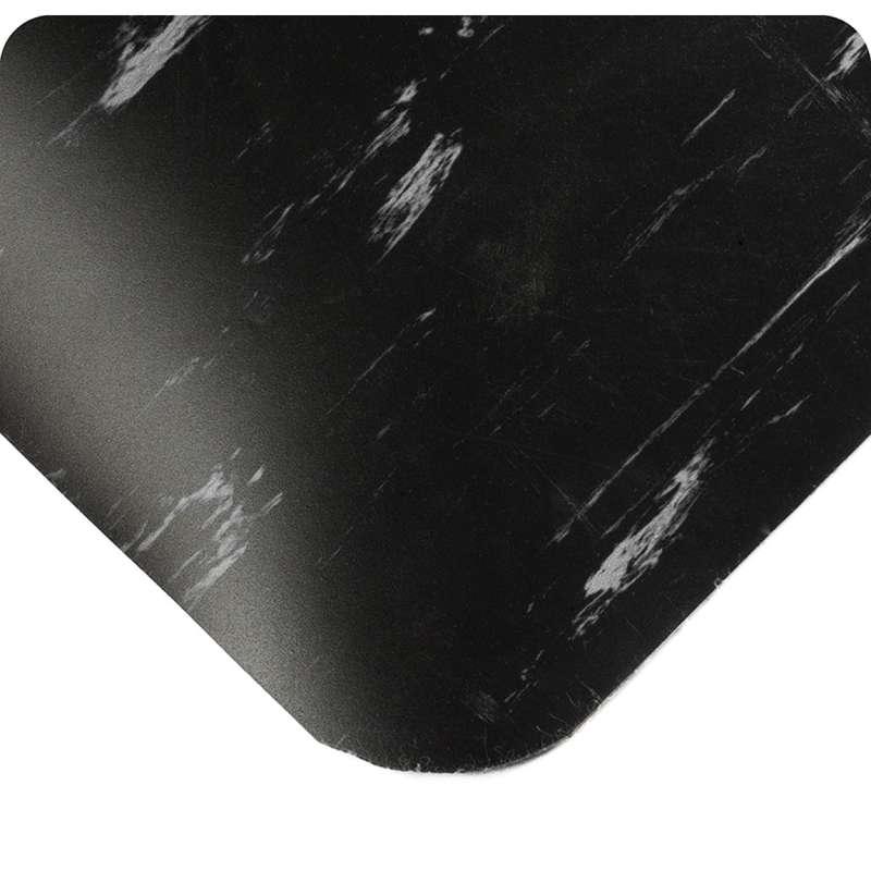"Tile-Top Select 3 x 60' Marbleized Commercial Blue Vinyl Matting with Flex-Link™ Sponge Base, 7/8"" Thick"