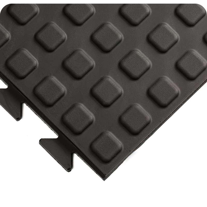 "Rejuvenator® Connect Interlocking 2 x 39"" Urethane Yellow Beveled Male Edging that Snaps Under Tile"