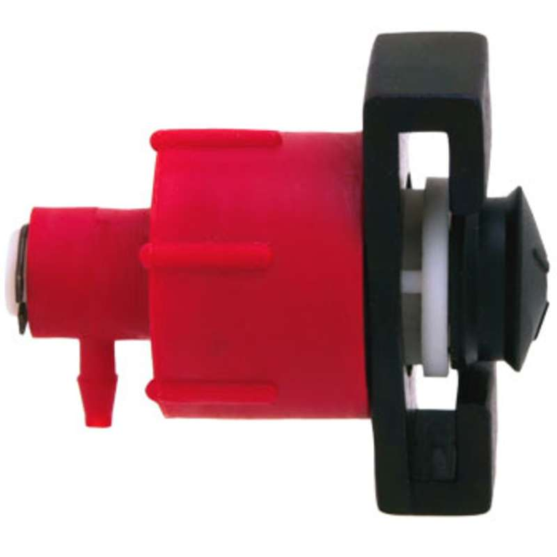 """Adapter Head Only, Metal, No Air Line, Accommodates 3/32"""" Line, 10CC Capacity"""