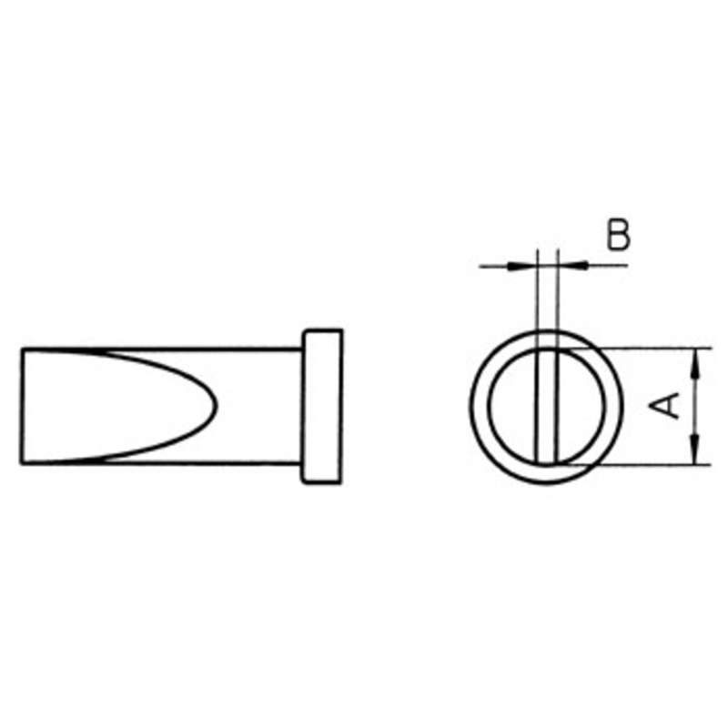 "LTD Chisel Solder Tip for WSP80 Iron, .181"" x .031"""