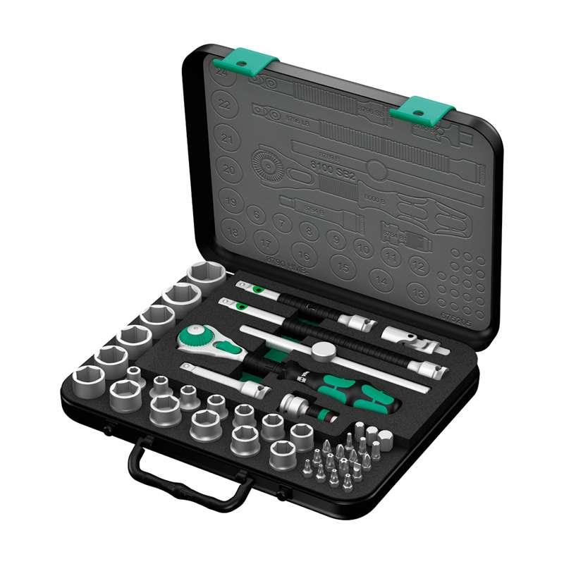"""Zyklop® Premium 3/8"""" Drive Metric Socket Set, 43 Pieces"""