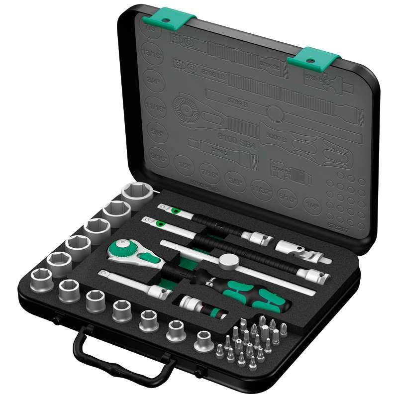 """Zyklop® Premium 3/8"""" Drive SAE Socket Set, 38 Pieces"""