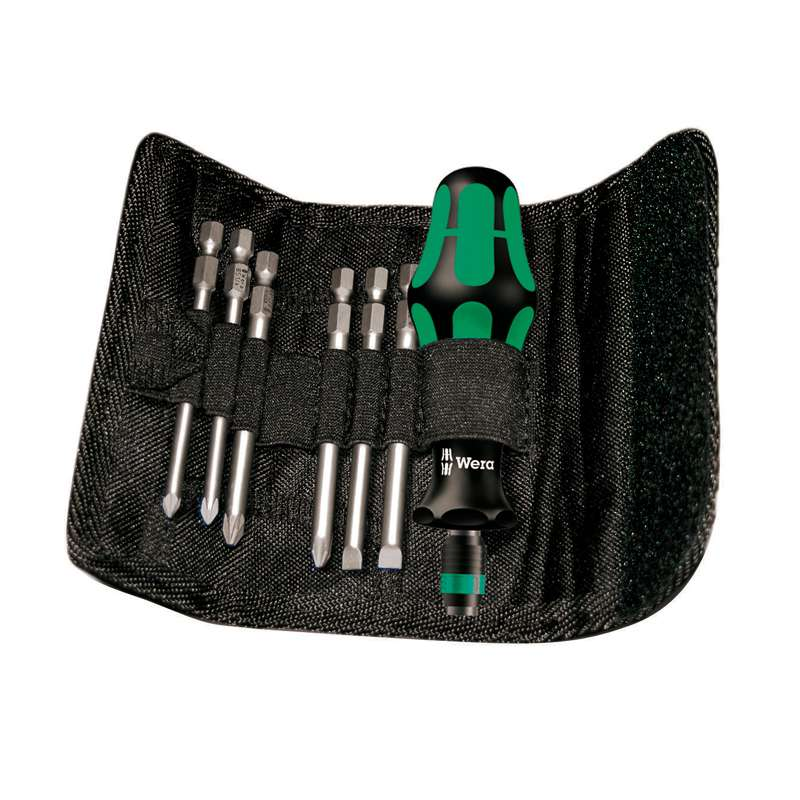 40 Series Kraftform Kompakt® Bit Holding Screwdriver with Slotted, Phillips, and Pozidriv Bit Set, 7 Pieces