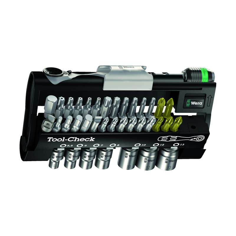 """Micro Series 1/4"""" Drive Bit Ratchet Set with Bit Holder, Metric Sockets and Case, 38 Pieces"""