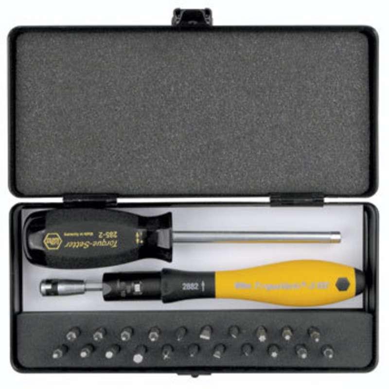 ESD-Safe Torque Vario®-S Kit with 15-80 in-oz Adjustable Torque Handle, 24 Pieces