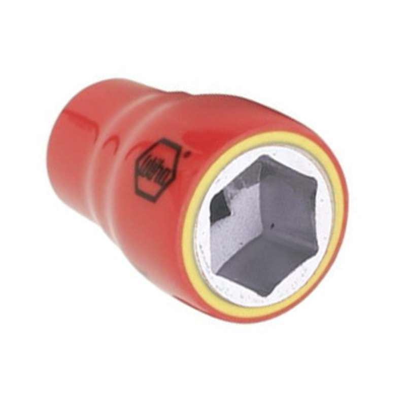 """Insulated 6 Point Standard Socket for 3/8"""" Square Drive, 13/16"""" x 1-3/4"""""""