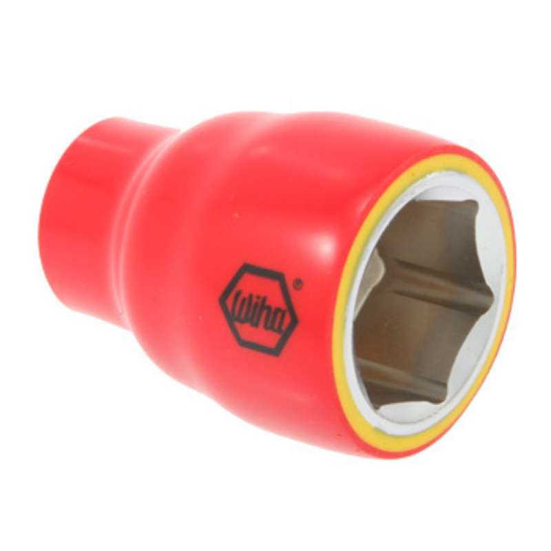 """Insulated 6 Point Hex Head Socket for 3/8"""" Square Drive, 3/8 x 3"""""""