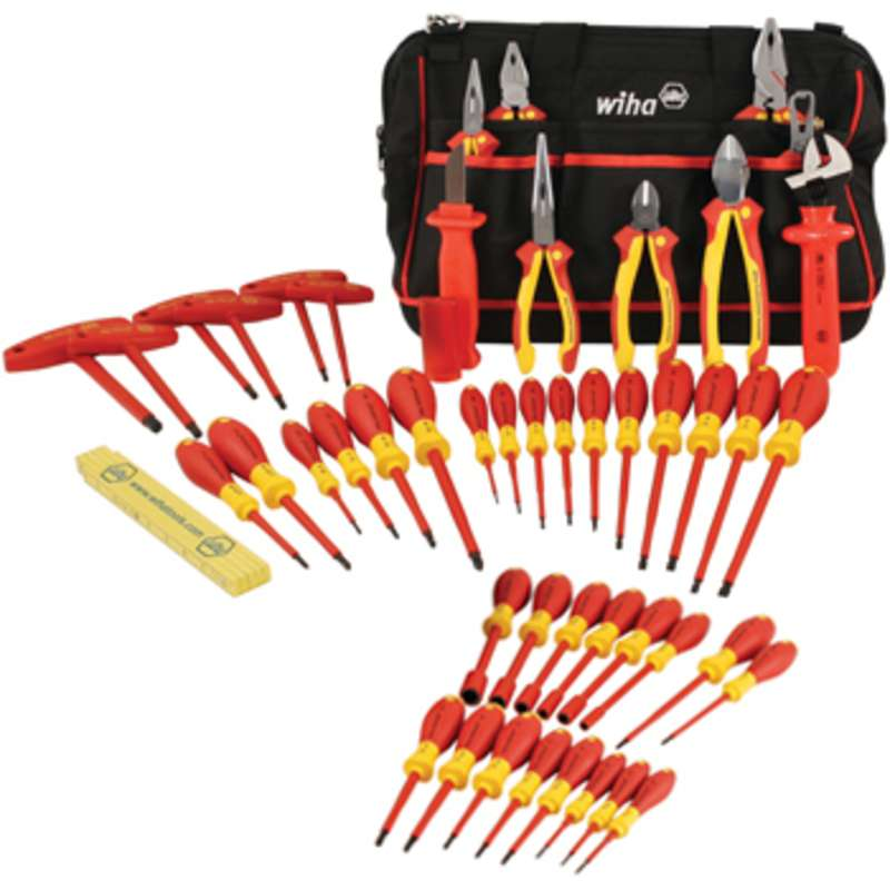 Insulated Master Electrician's Tool Set in Tool Box, 48 Piece