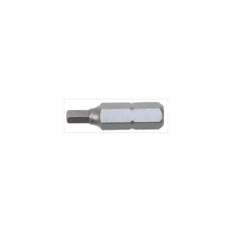 """Security Hex Head Tamper Resistant Insert Bit for 1/4"""" Hex Drive, 5/32 x 1"""" Long, 10 per Package"""