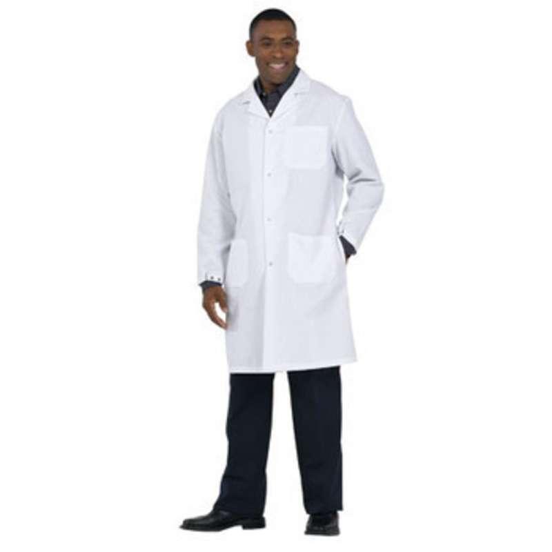"Microstat ESD-Safe Heavy Weight Unisex 41"" Lab Coat, White, 4X-Large"