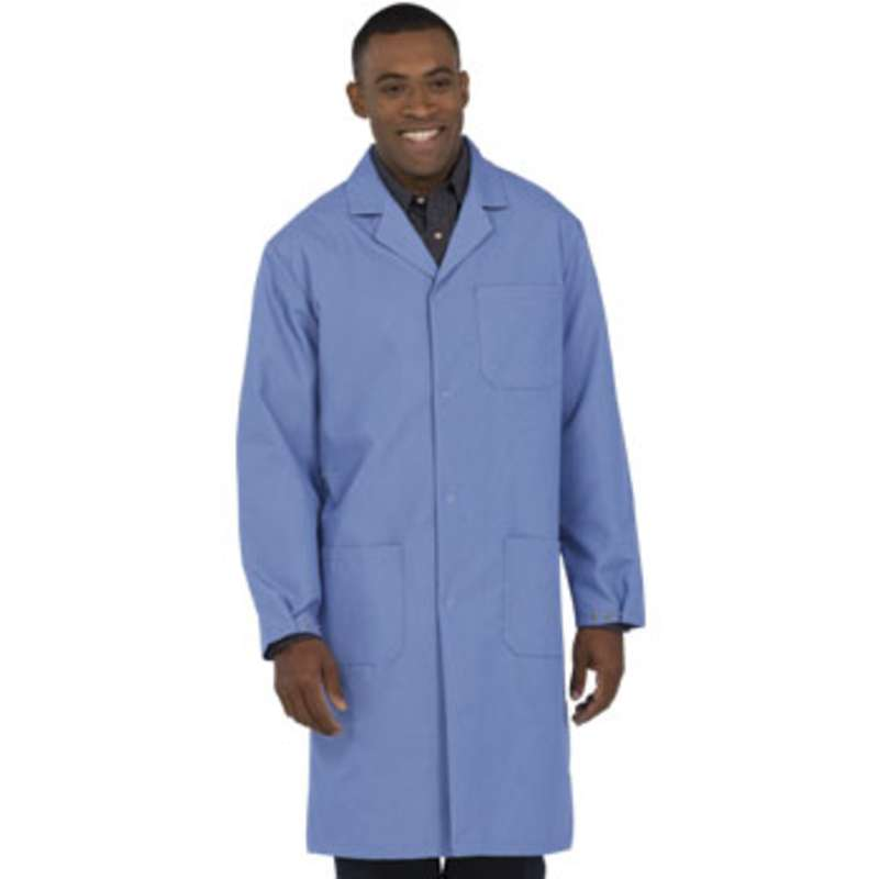 """Microstat ESD-Safe Heavy Weight Unisex 41"""" Lab Coat, Silica Blue, 4X-Large"""