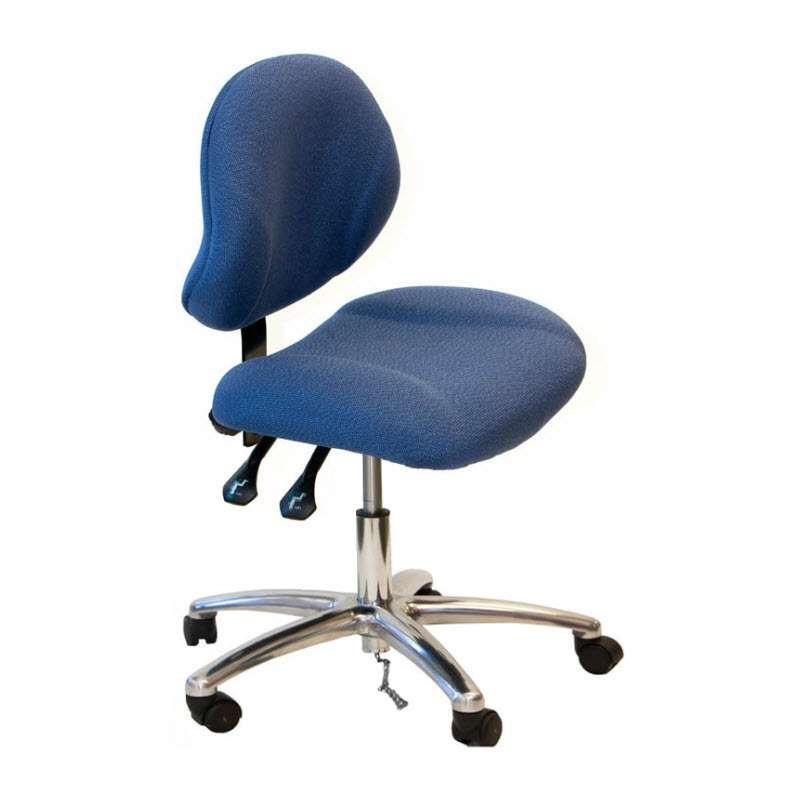 """Adjustable 19-24"""" ESD-Safe Fabric Chair with Chrome Base and Conductive Casters"""