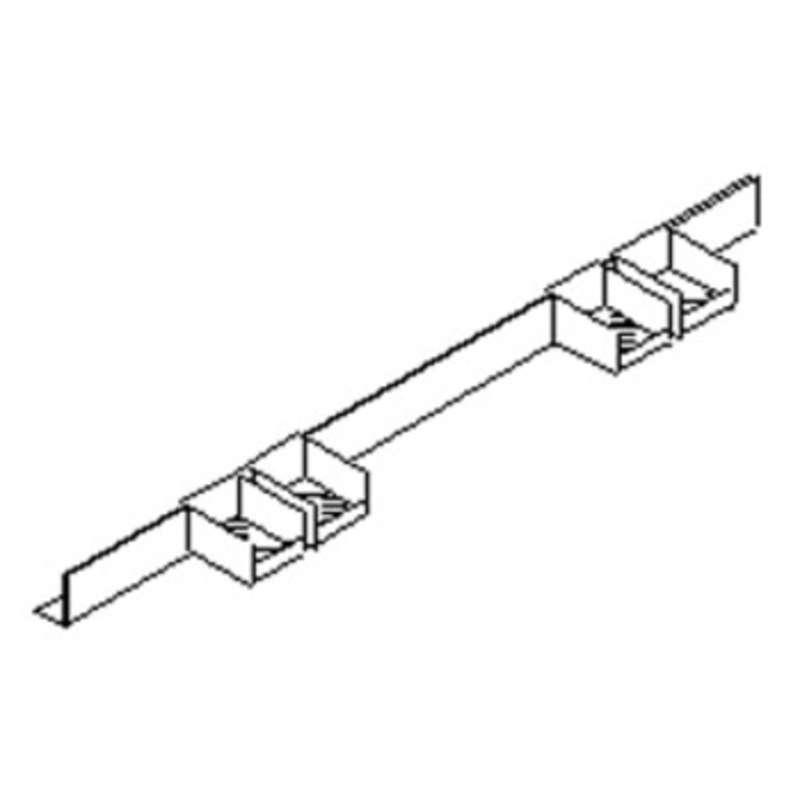 "Concept 2000 Series Quick Ship Parts Bin Rail Assembly, 48"""