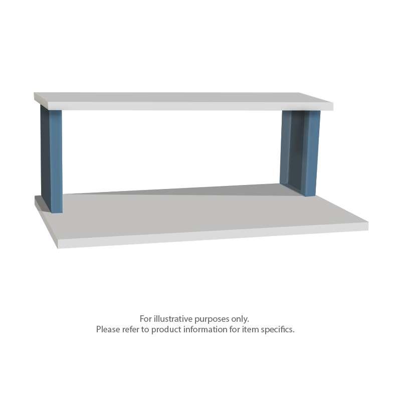 "Quick Ship Standard Riser Shelf for 48"" Production Workbench, 15""D x 48""W"