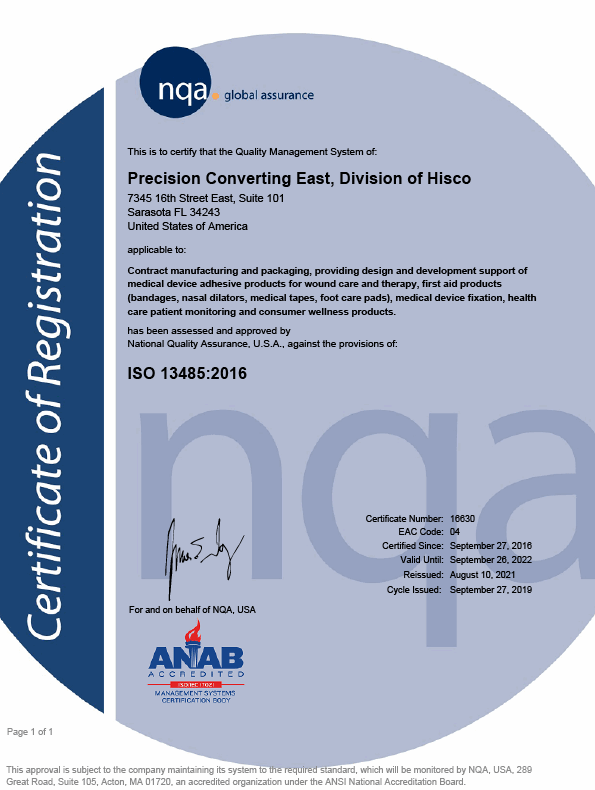 Image of ISO 13485 Certificate