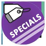 Specials and sales